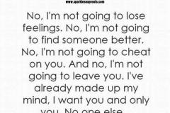not lose feelings