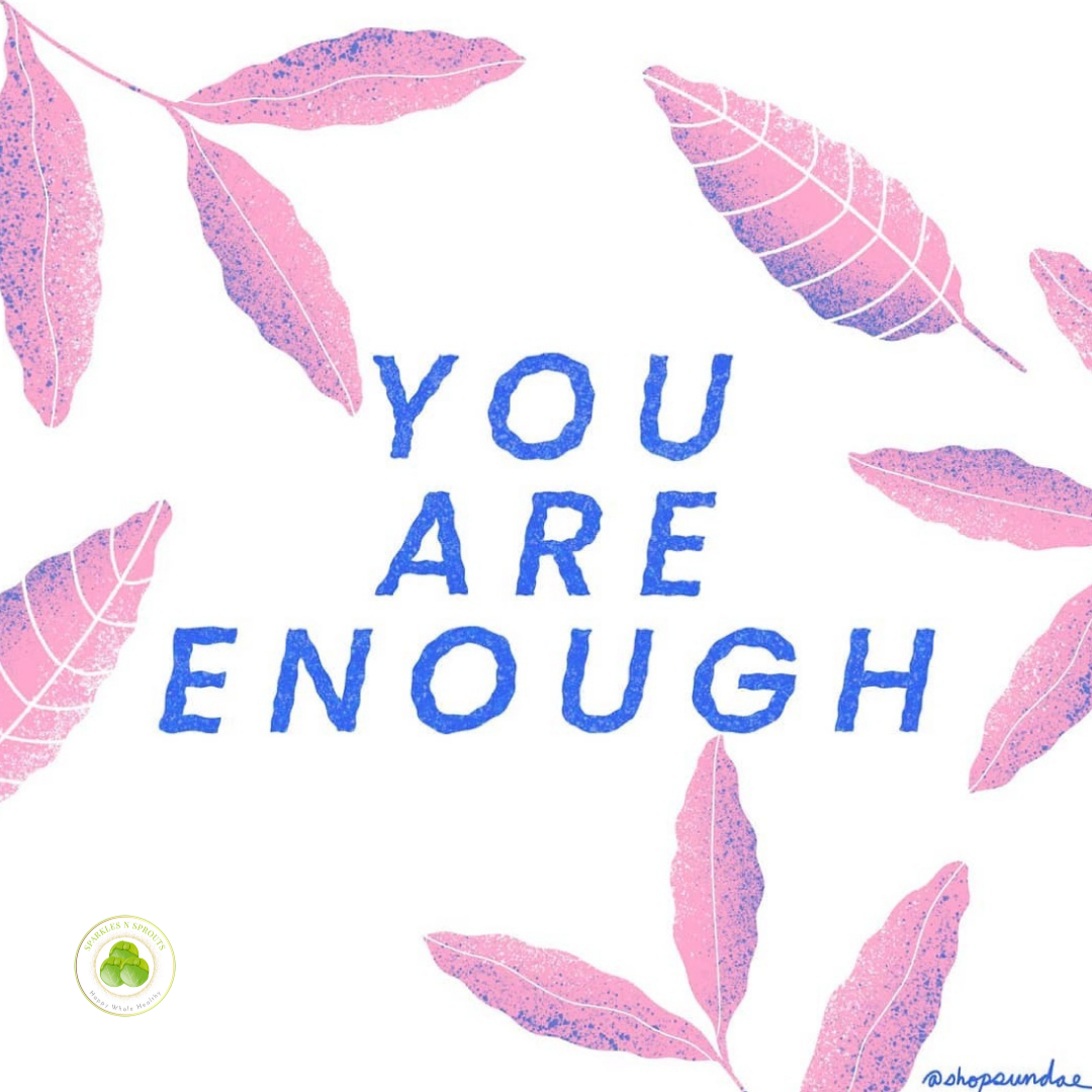 you-are-enough-pink-leaf